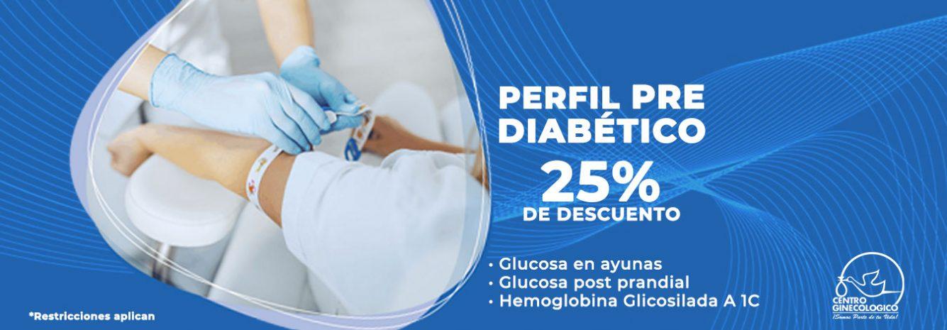 Perfil pre diabético 25% de descuento